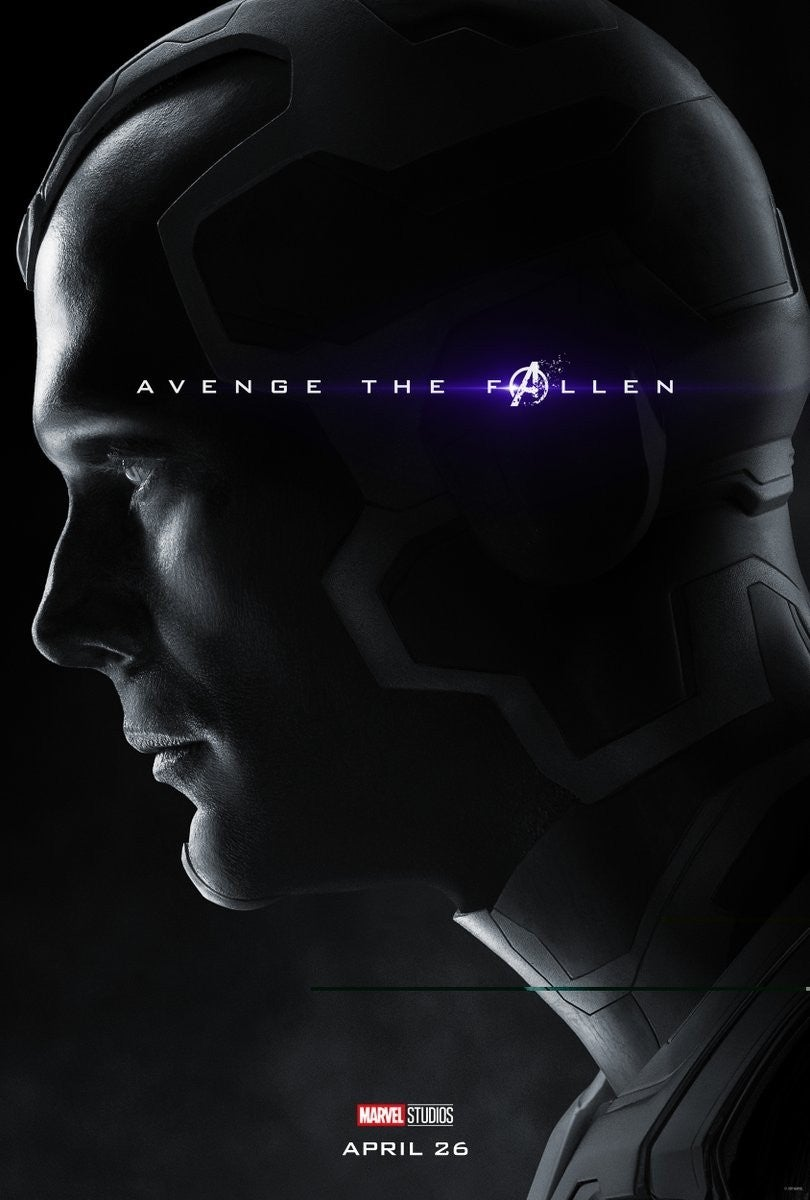 Avengers Endgame Posters Dead Characters - Vision
