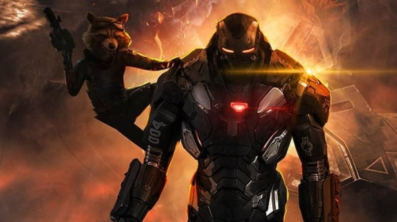 Avengers Endgame Rocket And War Machine Stand Tall In Epic Fan Poster