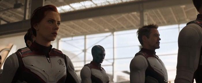 avengers endgame space suit black widow iron man