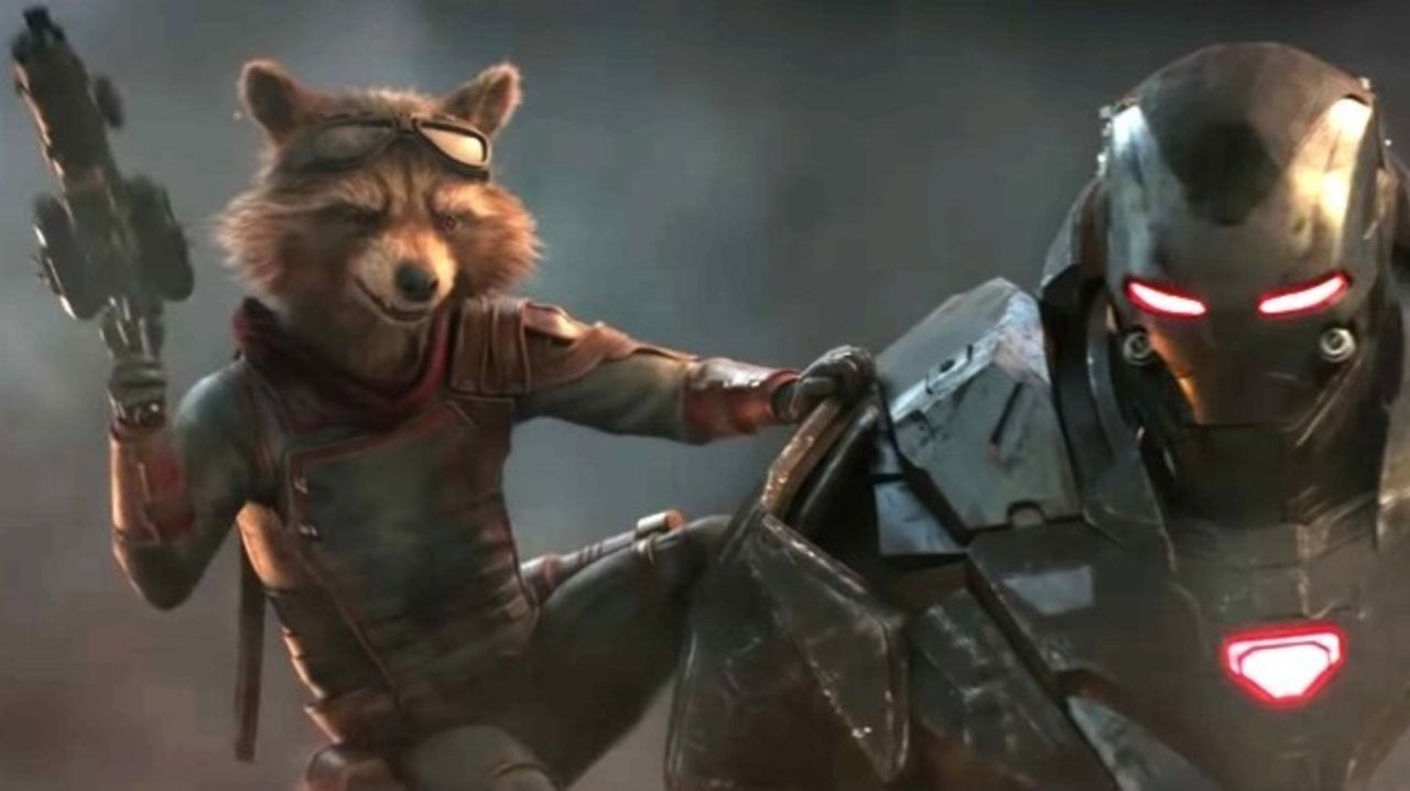 Image result for rocket raccoon and war machine
