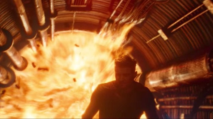 Avengers Engame HQ Attack Hawkeye Tunnel Explosion