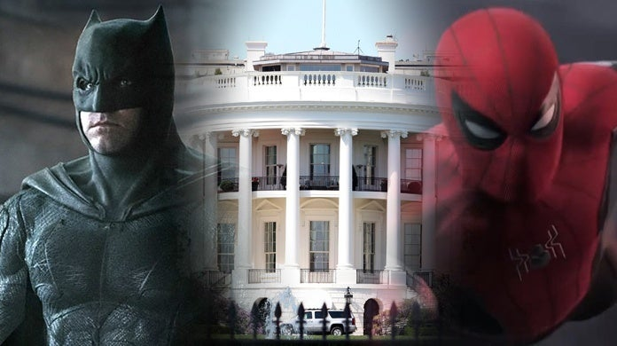 Batman-Spider-Man-White-House-Getty