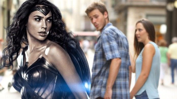Batman v Superman Party Secen Wonder Woman Distracted Boyfriend Meme
