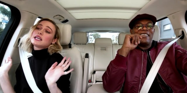 brie larson sam jackson carpool karaoke