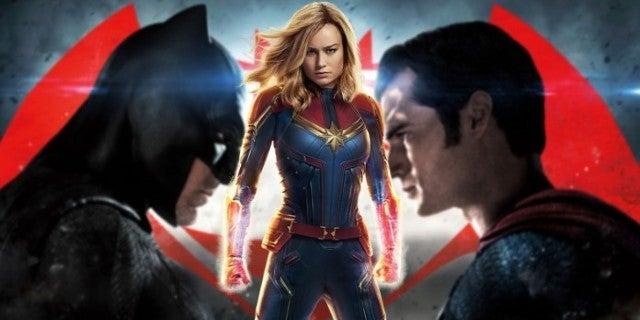 Captain Marvel Beating Batman v Superman Record