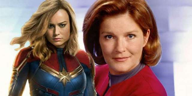 'Captain Marvel' Receives a Message From 'Star Trek's Captain Janeway