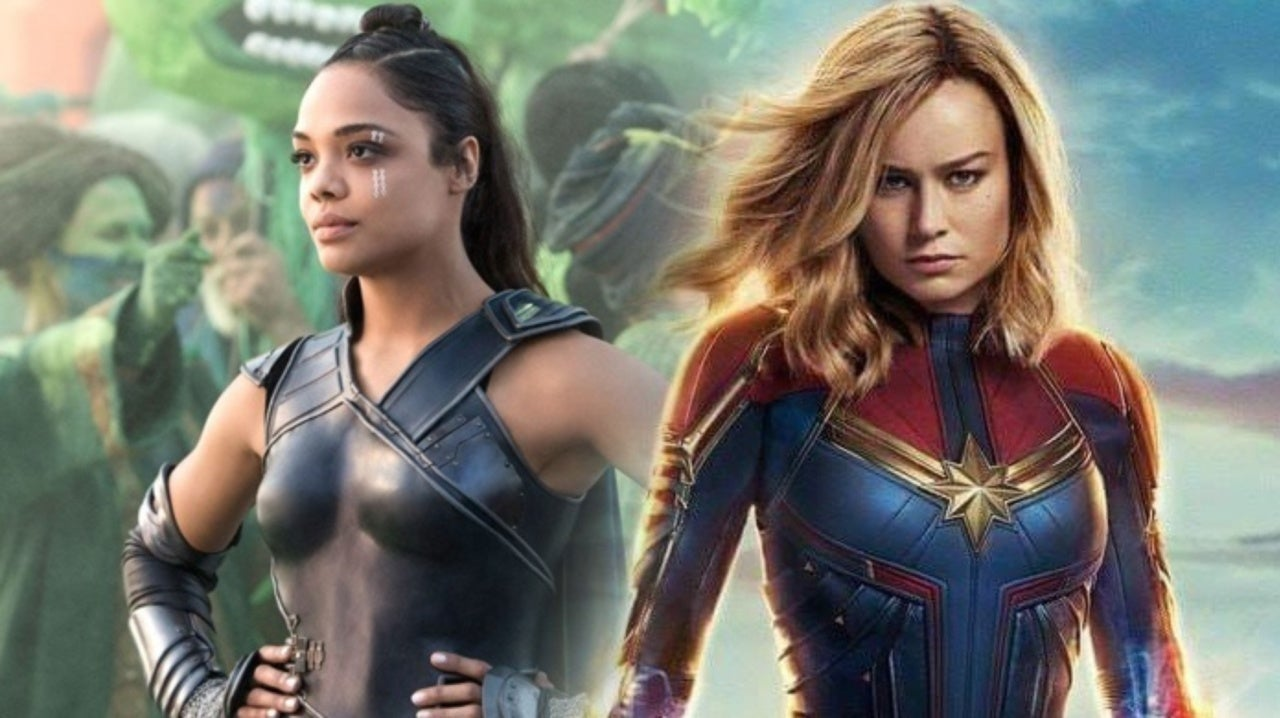 'Captain Marvel' Star Brie Larson and Valkyrie's Tessa Thompson Are Loving Their Ship Fan Art
