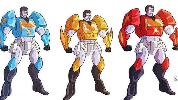 Crewbots Star Trek Transformers