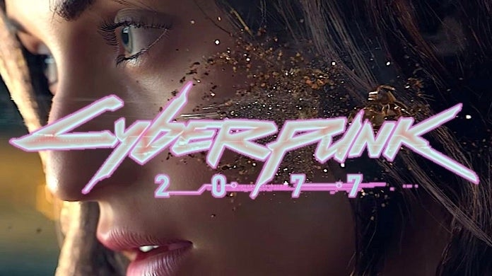 cyberpunk 2077 close up logo