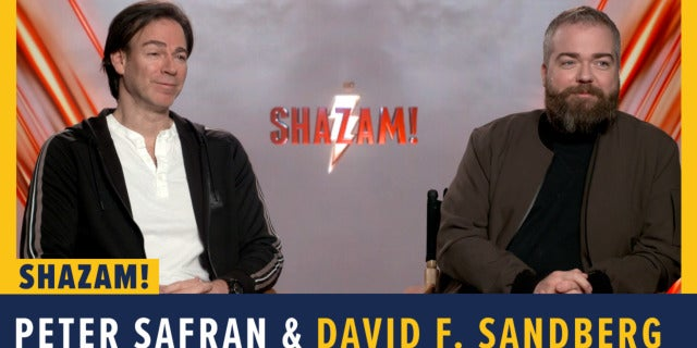 David F. Sandberg and Peter Safran Talk 'Shazam!' screen capture