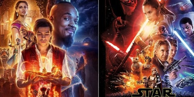 Disney Aladdin (2019) Star Wars 7 Poster Comparison