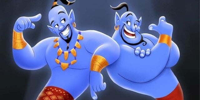 Disney Aladdin Will Smith Robin Williams Genie Tribute Art