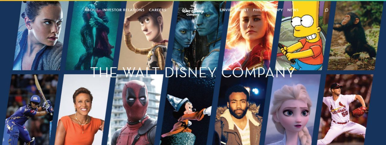 Disney Adds Deadpool, 'Avatar,' and 'The Simpsons' to Website Banner