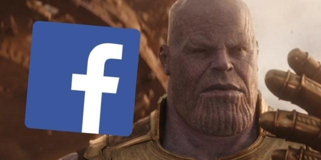 facebook instagram down outage avengers infinity war thanos