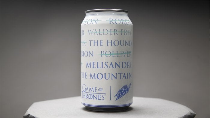 game of thrones mountain dew can