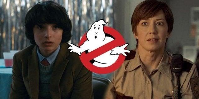 ghostbusters reboot cast finn wolfhard carrie coon