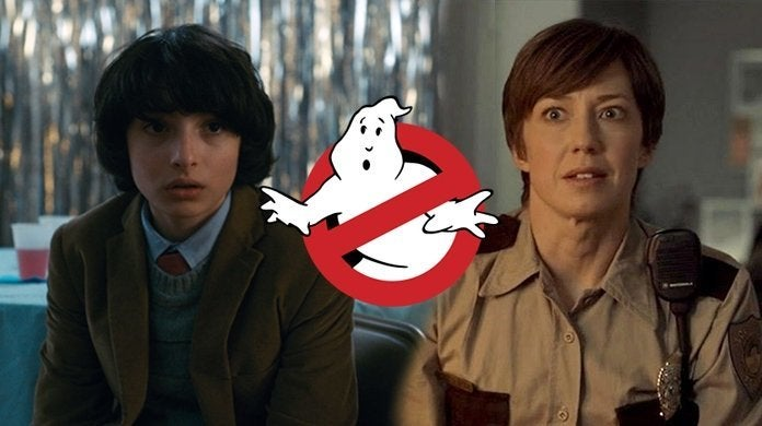ghostbusters reboot cast finn wolfhard carrie coon