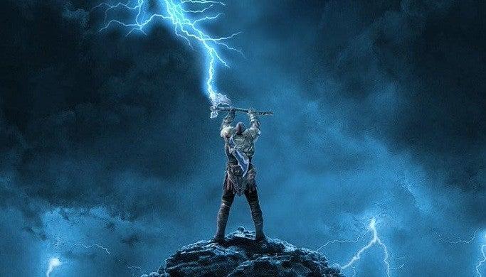 God of War Hellboy Poster