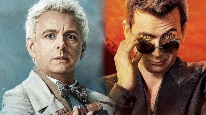 good omens character posters