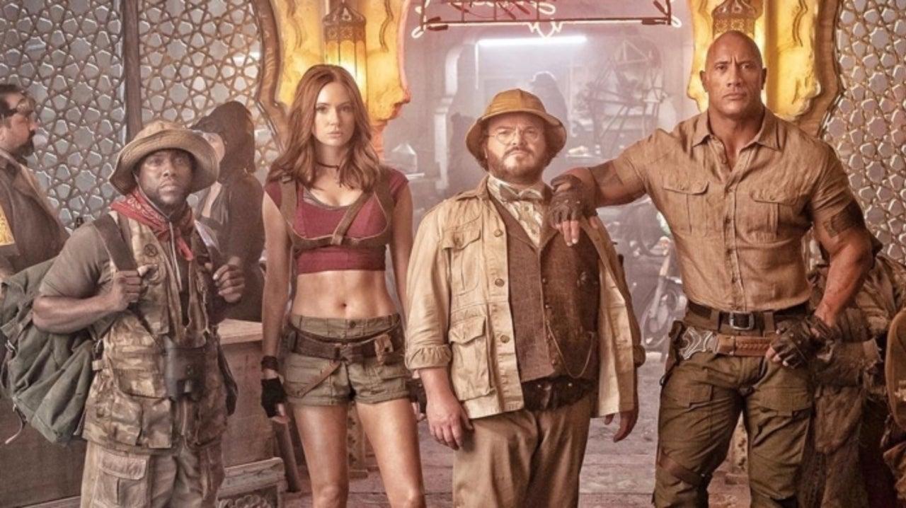The Rock Shares New Look at 'Jumanji' Sequel With Karen Gillan