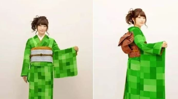 This Mosaic Kimono Accidentally Became the Best 'Minecraft' Tribute
