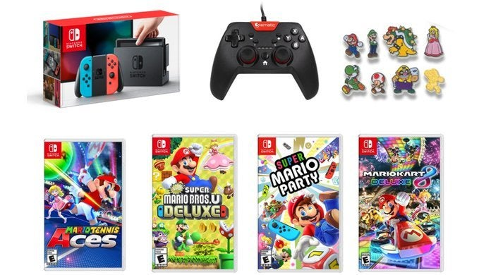 Nintendo Switch Mario Day Bundle Sweetened With a Bonus Controller