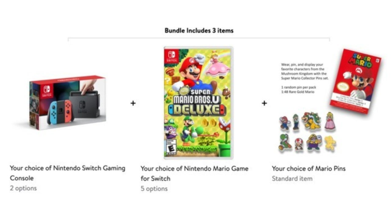 Nintendo Switch Mario Day Bundle Includes A Bonus Pin Set