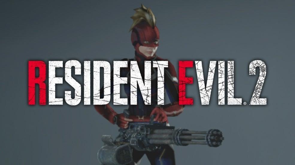 Resident Evil 2 Mod Captain Marvel