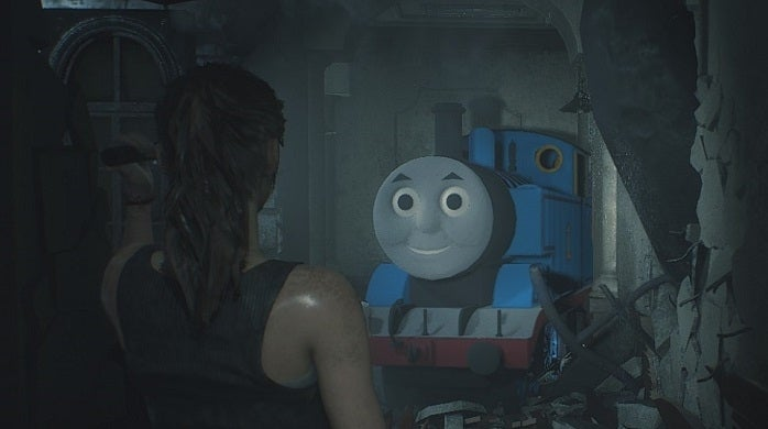 Resident Evil 2 Thomas the Tank Engine