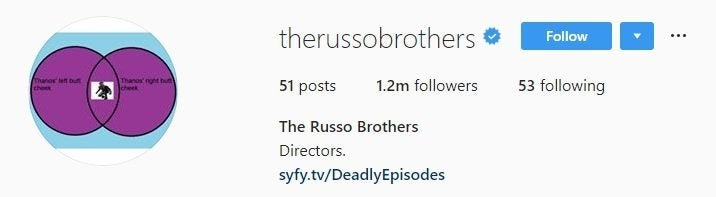 russo brother instagram bio ant-man thanos meme