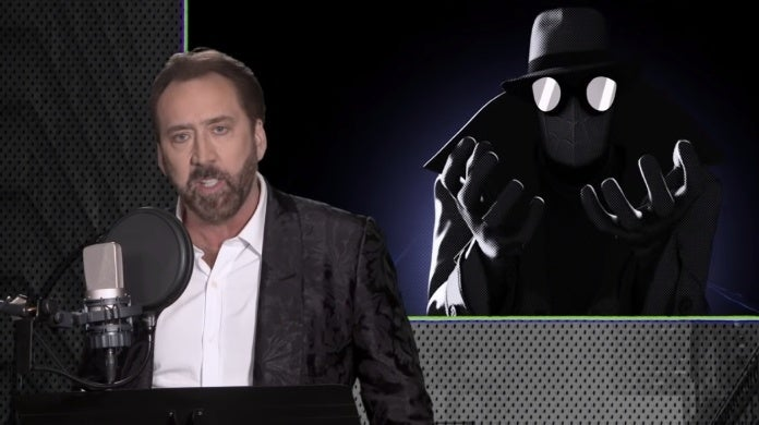 spider man into the spider verse spider man noir nicolas cage