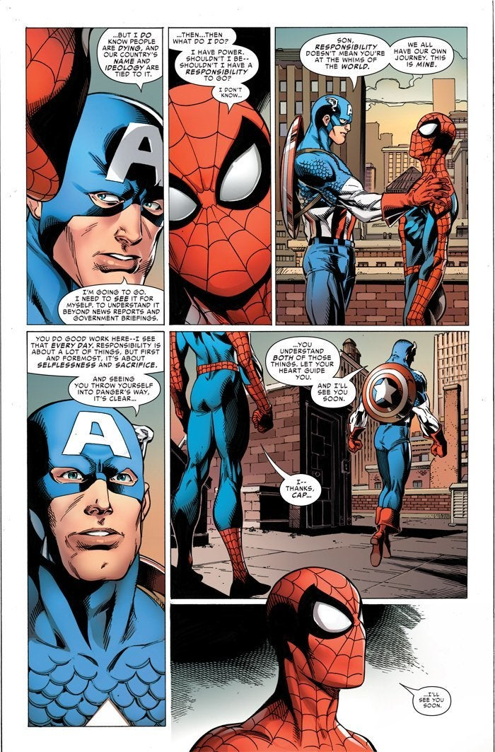 spider-man life story comic interior