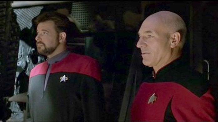Star Trek Generations Ending Picard Riker