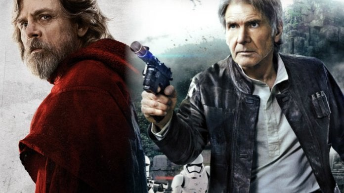 Star Wars Luke Skywalker Han Solo Mark Hamill Harrison Ford