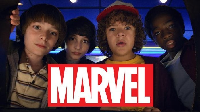 stranger things cast marvel team up