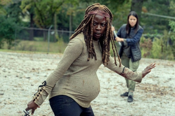 The Walking Dead 914 Scars Michonne kills kids