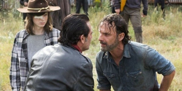 The Walking Dead Andrew Lincoln Chandler Riggs Rick Grimes Carl Grimes