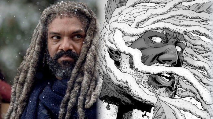The Walking Dead Ezekiel pikes ComicBookcom