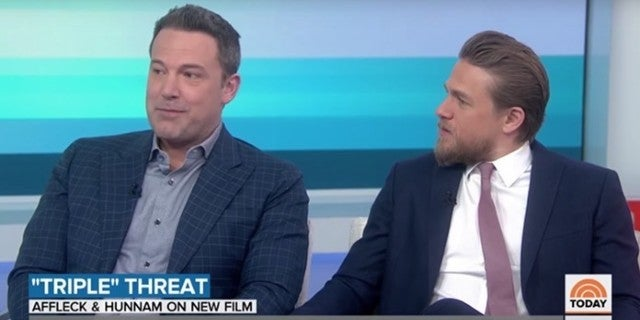 triple frontier today show ben affleck charlie hunnam