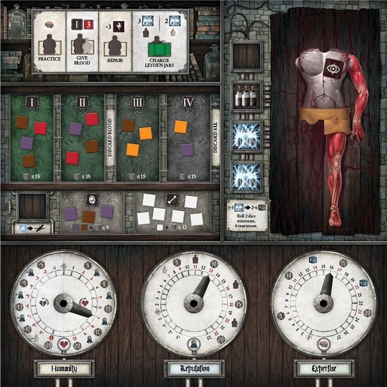 Abomination-The-Heir-Of-Frankenstein-Player-Board