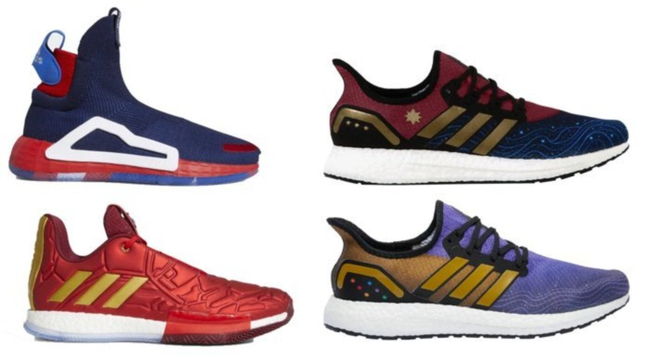 online store 8f538 eadc0 Marvel x Adidas Avengers  Endgame Sneakers Arrive Today