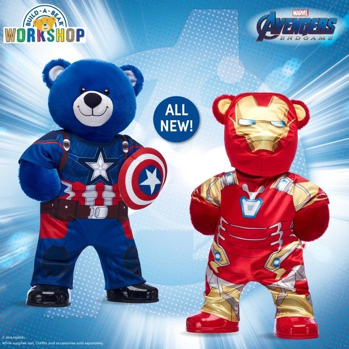 'Avengers: Endgame' Captain America and Iron Man Plush Assemble at Build-A-Bear Workshop