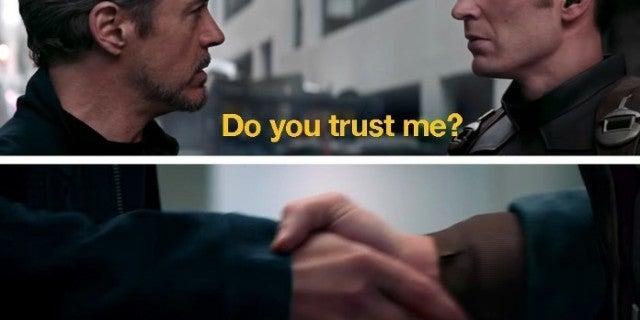 Avengers Endgame Iron Man Captain America Reunion Scene