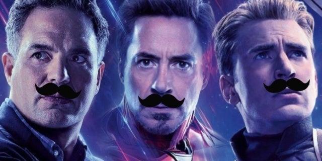 avengers endgame mustaches robert downey jr mark ruffalo chris evans