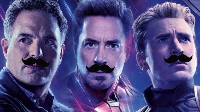 avengers endgame mustaches robert downey jr mark ruffalo chris evans