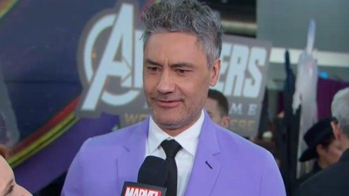 avengers endgame premiere taika waititi suit