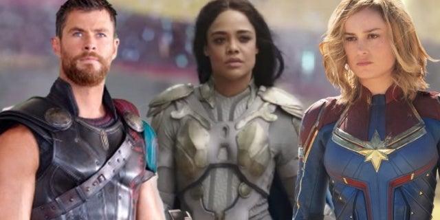 avengers endgame thor valkyrie captain marvel