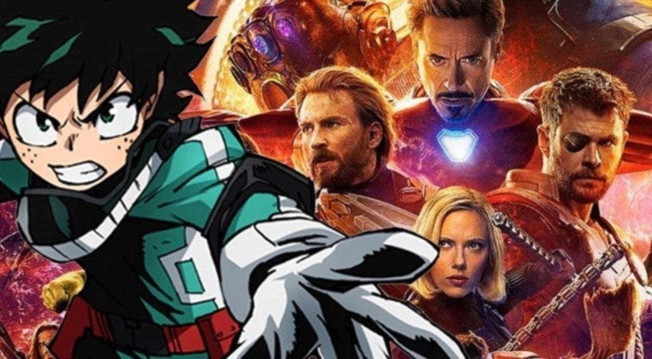 Epic 'My Hero Academia' and 'Avengers' Crossover T-Shirt Sends Marvel Heroes to UA