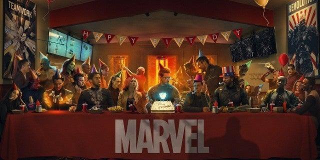 Avengers Robert Downey Jr Birthday Last Supper Fan Art