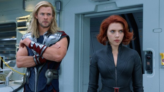 Avengers Thor Black Widow